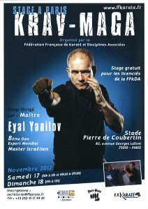 Stage FFKDA Eyal Yanilov novembre 2012
